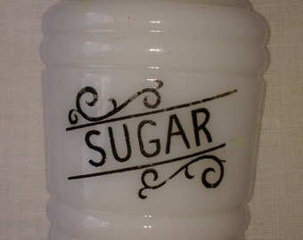 Hazel Milk Glass Sugar Shaker