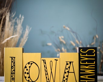 Iowa wrestling etsy for Iowa hawkeye decor