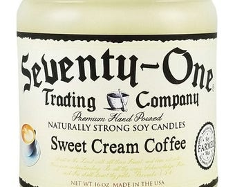 16 oz 80 Hour Richly Scented Soy Candle - Sweet Cream Coffee candle