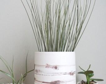 Winter Sonata II, white ceramic vase handmade by Mud to Life