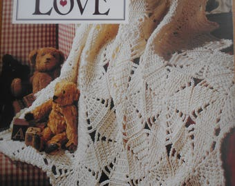 Afghans to Love, Leisure Arts, Pattern Leaflet #RENCWH1, 1996