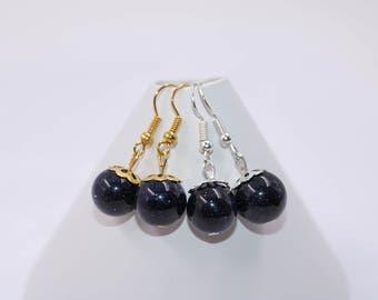 Bohemian Earrings // Blue Sandstone Earrings // Blue Beaded Earrings // Boho Earrings // Dangle Earrings // Womens Earrings