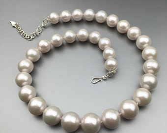 SOLD! Custom Order Available. White Freshwater Pearl Necklace . Bridal and Beyond! N54
