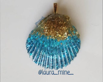 Resin Seashell Pendant