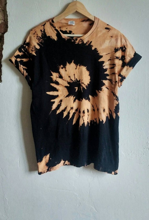 Acid Wash Bleach Tie Dye Shirt tumblr indie grunge fashion