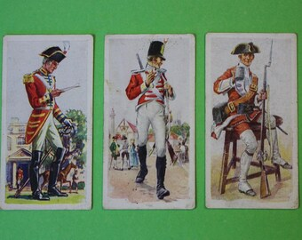 Vintage Cigarette Card Carreras Ltd History of Army Uniforms 1937 A Series of 50 have 3/50 for sale Collectable Craft Collage