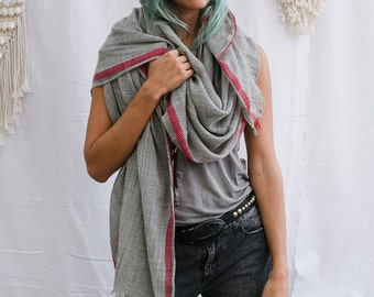 Pure Wool Scarf, Winter Scarf, Fall Scarf, Grey Scarf, Soft Scarf, Womens Gift, Men Scarf, Women Scarf, Autumn Scarf