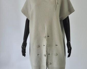 1990s Yohji Yamamoto Grey Tunic Sweater
