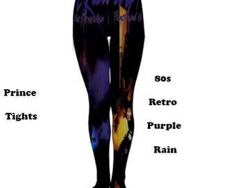 Purple Rain tights, tights, fashion, 80s, 70s, prince, music, films, fashion, tights, leggings, purple rain