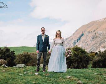 Wedding skirt, Tulle wedding skirt, Tulle skirt, Blue skirt, Wedding set, Skirts for wedding, Bridal skirt, 0035 // 2016