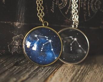 Zodiac Constellation Necklace, Star Necklace, Zodiac Jewelry, Space Jewelry, Birthday Jewelry