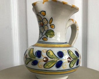 Vintage Hand Painted French Pitcher