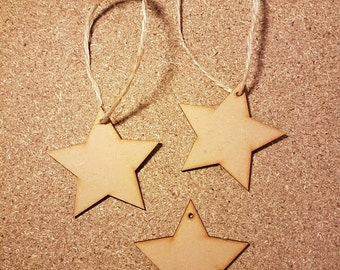 Star wooden Christmas decoration