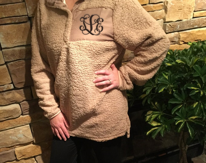 Featured listing image: Personalized Monogrammed Sherpa Pullover