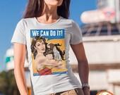 Wonder Riveter Shirt | PREMIUM QUALITY | DC Superhero | Propaganda | Parody | Comic Tee | Geek Clothing | T-Shirt | Geek Tee