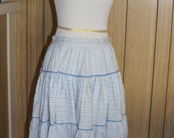 Circle skirt light blue and white vintage 1990s