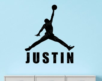 Personalized Air Jordan Basketball Wall Decal - Customized with your family, team or kid's name!
