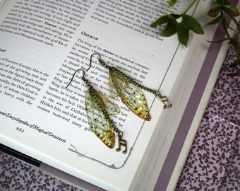 Delicate Little Musical Sprite Fairy Wing/Butterfly/Cicada Earrings