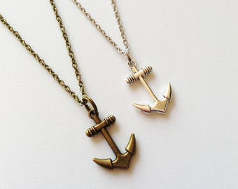 ANCHOR Necklace Anchor Jewelry Sailor Necklace Sailor Gift Beach Necklace Beach Jewelry Summer Necklace Summer Jewelry Anchor Pendant Charm