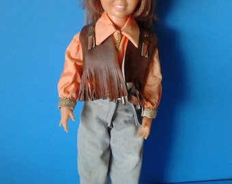 "Vintage Doll "" Custom Western Crissy "" 1960's Ideal 18 inches"
