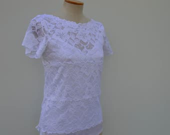 Clearance 30% Top Bridal lace, Bridal, white burp croc top lace