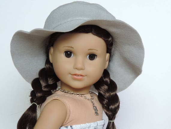 Light Grey Floppy Hat - 18 Inch Doll Clothes