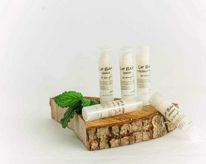 Lip Balm PEPPERMINT Moisturizing in a clear twist up tube ORGANIC