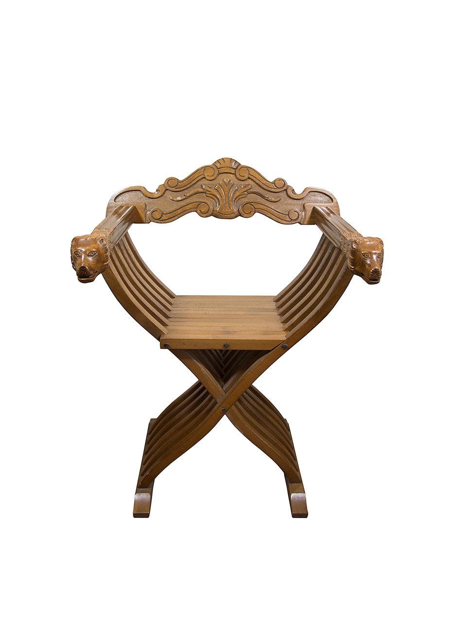 Savonarola chair italian renaissance - Details Vintage Chair Savonarola