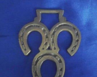 Horsebrass 3 Lucky Horseshoes Horse Brass