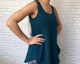 Tank Top - Tank Top For Women - Custom Tank - Solid Tank Top - Legging Tank - Workout Tank - Layer Shirt - Yoga Tank - Tunic - Siren Tank