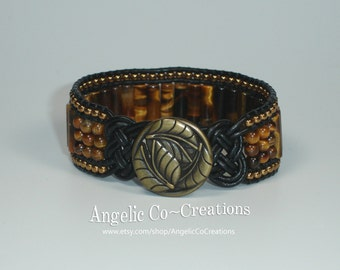 Tiger Eye Knot Cuff