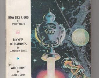 Galaxy Magazine 1969 Science Fiction Pulp-Harlan Ellison-James Gunn-Robert Bloch-Clifford Simak-Keith Laumer-James Tiptree-Sylvia Jacobs-Ley