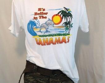 Vintage Bahamas Super Soft! t-Shirt MEDIUM It's Better in The Bahamas