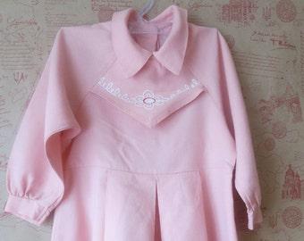 Long sleeve child, dress child vintage, pink dress kids, vintage clothes girl, kids clothes sleeve, child dress vintage, toddler dresses