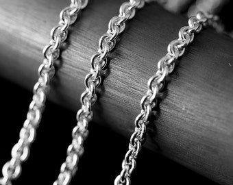 By The Inch Cable Argentium Sterling Silver 935 Chain 2.8 mm