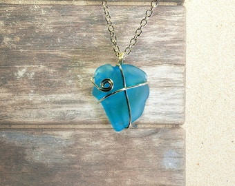Sea Glass Necklace – Beach Glass Jewelry - Sea Glass Jewelry – Beach Necklace - Seaglass Jewelry – Ocean Jewelry - Beach Jewelry - Sea Glass