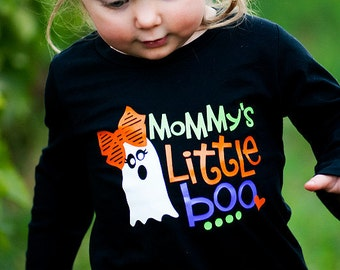 Mommy's Little Boo Shirt - (0-24 months) (2T-14/16) - halloween shirt, girls halloween shirt, mommys boo shirt, fall shirt, mommys girl