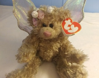 """TY 1993 """"Rafaella"""" Angel Bear Collectible, 10 inch, Bear with Wings, Attic Treasures Collection"""