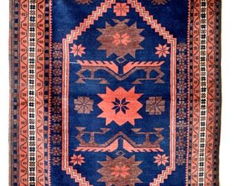 "196cm x 106cm- 77"" x 42"" Turkish Handmade Balikesir Yagcibedir Anatolian Handwoven Rug- Semi Antique Nomadic Rug"