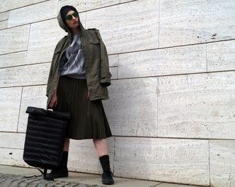 Day Helper*Urban Backpack Messenger Rolltop School Bag Laptop