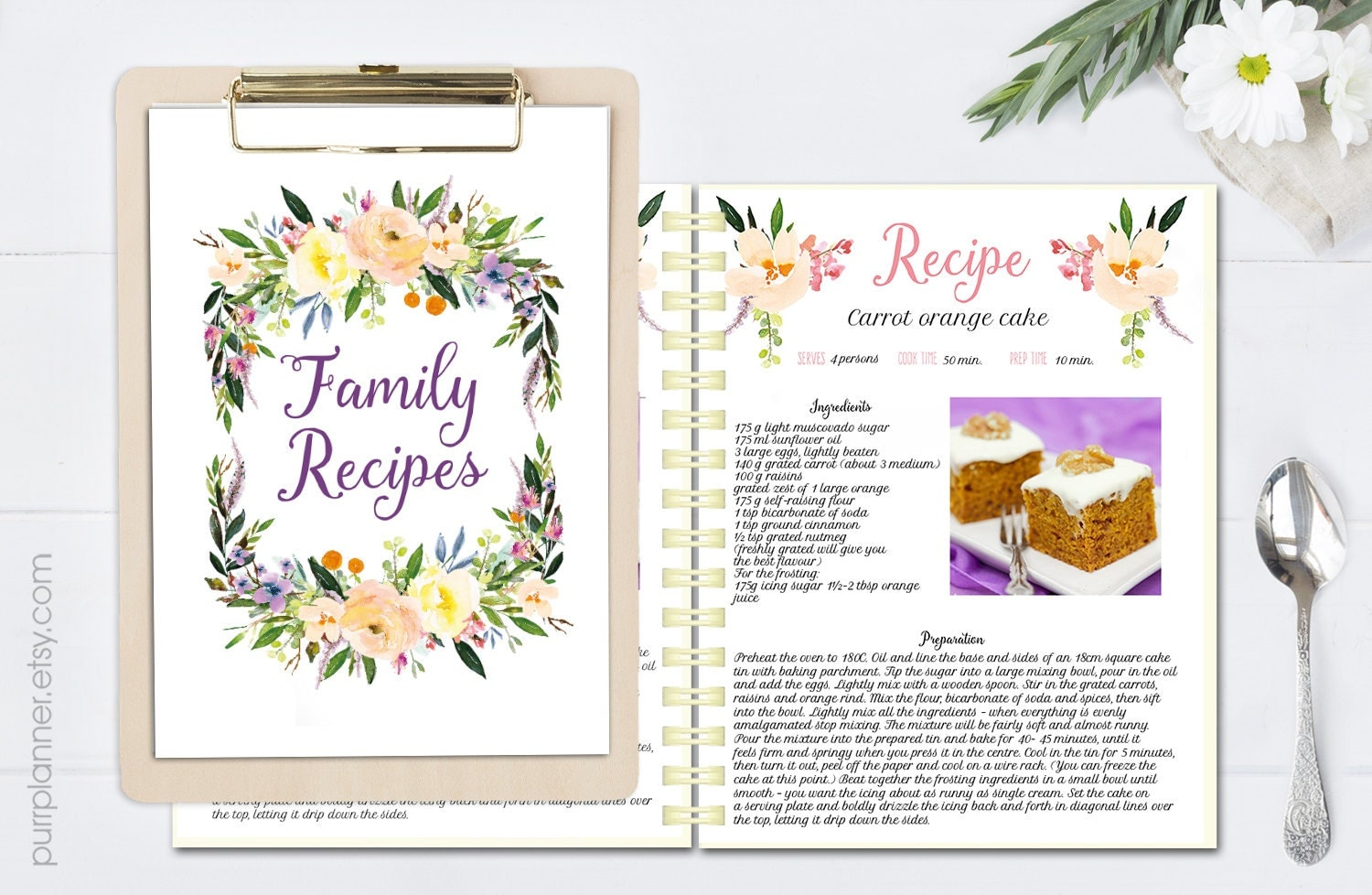 recipe cookbook template