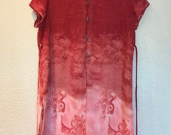 Pink Rialto Collection semi sheer tunic