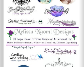Custom Logo Design, Up To Ten Logo Designs For One Business Or Personal Use, Original Logo Design, Customized Logo, Personalized Logo, OOAK