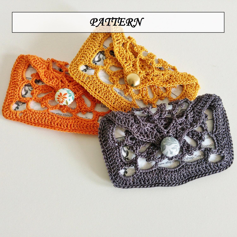 Crochet Pattern Lace Card Holder Crochet Pattern Crochet