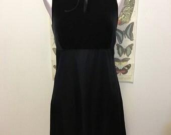 black velvet vintage mini dress / party dress