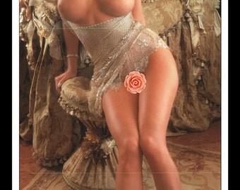 "Mature Playboy March 1996 : Playmate Centerfold Priscilla Lee Inga Taylor Gatefold 3 Page Spread Photo Wall Art Decor 11"" x 23"""