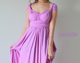 Maxi Lavender Infinity Dress Prom Dress Convertible Dress Bridesmaid Dress Wrap Dress