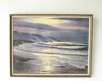 Small Wall Art, Small Wall Decor, Small Paintings, Ocean Painting, Vintage Painting, Landscape Painting, Landscape Art, Maurice Meyer