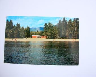 Shuswap Lake British Columbia Postcard / Shuswap Lake postcard / Camping Postcard / vintage Beach postcard