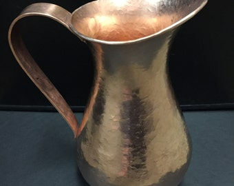 Hammered Copper Pitcher - 1 3/4 Liters, 100% pure copper